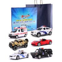 警�玩具�和�救�o�跑�模型合金��Y盒套�b小汽�仿真警察�男孩