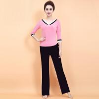 新款春夏瑜伽服套装女 时尚愈加健身服休闲运动瑜珈表演服 X