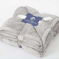 伊丝洁家纺加厚法兰绒毯子羊羔绒被子秋冬季学生宿舍单人绒床单
