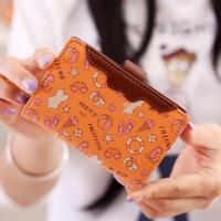 韩版卡通小卡包女式多卡位包*夹20卡位卡片包迷你卡套薄款 橙粉色