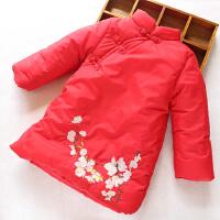 新年装女童旗袍连衣裙夹棉加厚秋冬新款宝宝立领加厚棉衣外套