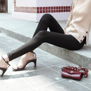 七格格打底裤女外穿高腰黑色秋冬装新款2017韩版显瘦百搭薄女小脚长裤子