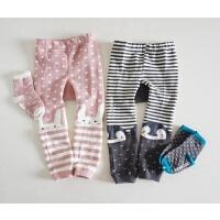 韩国婴儿打底裤 大PP细针织打底袜 带配套袜子的么 纸尿裤可穿