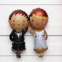 婚礼婚房装饰布置铝膜心形气球结婚铝箔创意串心爱心LOVE气球