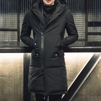 男土棉袄外套韩版修身帅气加厚中长款羽绒棉服男潮青年保暖棉衣