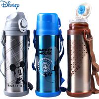 迪士尼米奇儿童保温杯不锈钢真空水杯创意双盖运动直饮杯 5749