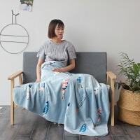 毛毯被子婴儿毛毯双层加厚冬季珊瑚绒儿童午睡毯单人办公室小毯子