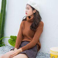 高领毛衣女新款套头加厚打底衫秋冬修身长袖百搭针织衫 均码