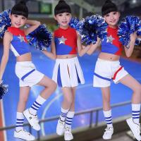 儿童啦啦操演出服花球表演服装男女童健美舞蹈裙