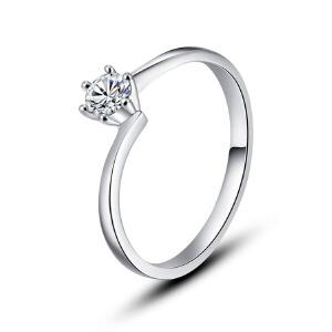 先恩尼钻戒 白18K金约20分结婚钻戒 钻石女戒 HFA249 钟爱一生