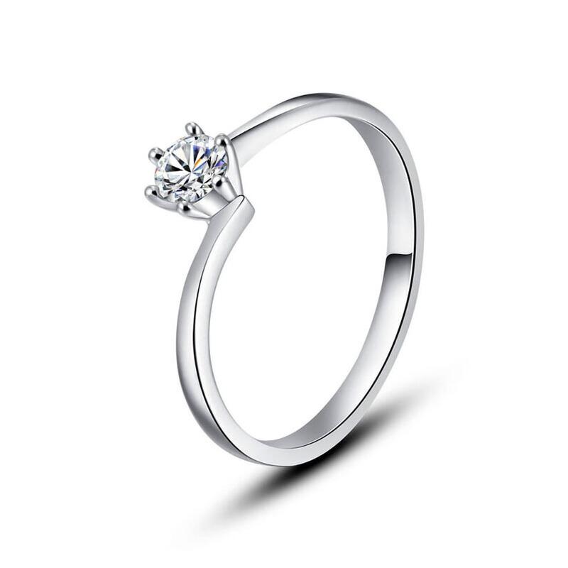 先恩尼钻戒 白18K金约20分结婚钻戒 钻石女戒 HFA249 钟爱一生结婚戒指定制 钻石女戒 免费刻字!