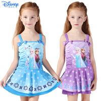 迪士尼儿童泳衣冰雪公主苏菲亚连衣裙游泳衣韩版连体泳装女童泳衣