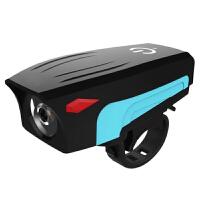 山地自行车灯USB充电单车夜骑强光手电筒触屏喇叭前灯