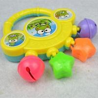 婴幼儿玩具 新生儿手抓摇铃玩具宝宝儿童早教益智生日礼物 四铃款黄色