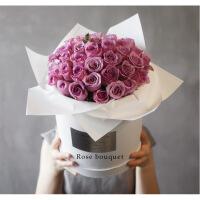 ????法式玫瑰花礼盒气球七夕情人节花束广州鲜花同城速递 喜迎国庆