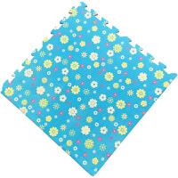泡沫地垫地板家用卧室榻榻米加厚爬行垫子拼接爬爬垫拼图地毯j 蓝色 太阳花