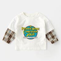 男童t恤长袖春季3-6岁宝宝上衣打底衫