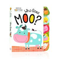 【满300-100】谁在哞哞叫?英文原版绘本Petite Boutique: Who Goes Moo?幼儿英语启蒙认知