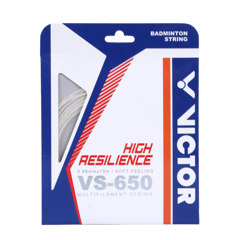 胜利/VICTOR 威克多羽毛球拍线 VS-650 高弹型羽拍线 反弹力强 击球感敏锐