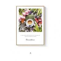 生活与诗ins宝丽来咖啡花卉植物摄影壁挂现代客餐厅装饰画