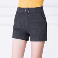 冬天短裤女新款百搭韩版高腰修身外穿打底加厚秋冬款毛呢靴裤