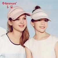 儿童帽子女大童帽夏天遮阳帽防紫外线防晒帽帽户外运动空顶网球帽4886