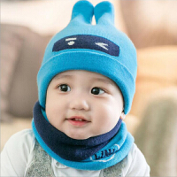 宝宝帽子秋冬季套头帽6-12个月婴幼儿胎帽1-2岁男女童保暖毛线帽
