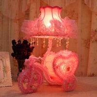 红色婚庆婚房台灯卧室送朋友闺蜜创意结婚礼物实用礼品新婚床头灯 一心一意 (樱花粉)45CM高