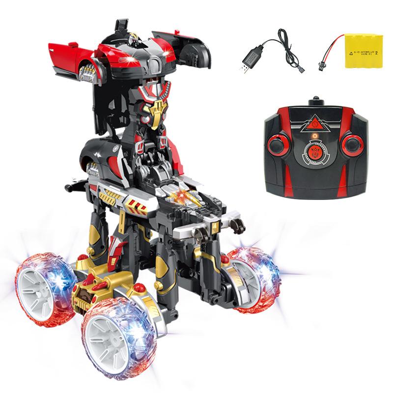 2.4G 特技翻斗车 电动变形特技车 大脚怪充电遥控车儿童玩具 111-158 官方标配
