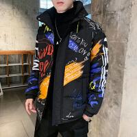 棉衣男冬季潮流保暖外套2019新款男生帅气多彩男装时尚大码棉服