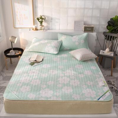 家纺床上用品天丝空调席 软凉席 印花席子三件套 夏凉席冰丝席W