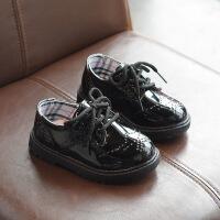 男童皮鞋中大童学生礼仪演出宝宝表演鞋英伦女童礼服小皮鞋儿童鞋