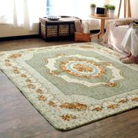 法莱绒地毯欧式简约客厅家用卧室床边爬行垫长方形满铺榻榻米地垫