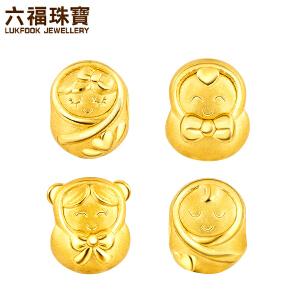 六福珠宝足金YUN运系列黄金手绳串珠定价L01A1TBP0002