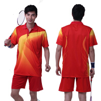 羽毛球服情侣款套装可定制球服团体服印LOGO 443