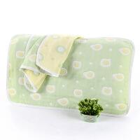 儿童枕巾棉纱布卡通宝宝幼儿园婴儿枕头巾吸汗40*60夏六层 蛋黄40*60尺寸
