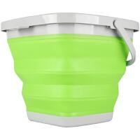 折叠水桶 户外钓鱼折叠桶 打水桶 便携活鱼桶饵料盆户外洗车