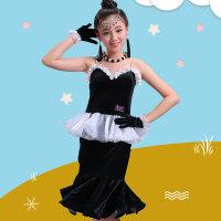 儿童拉丁舞裙演出服女孩练功服女童表演服装