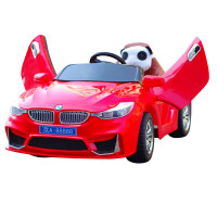 宝马儿童电动车四轮遥控汽车可坐人宝宝玩具车带摇摆小孩充电童车 红色升级版+遥控+自驾+大电瓶 【摇摆+快充】