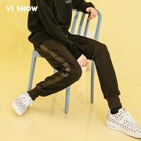 VIISHOW2018新款休闲裤男 春季男士学生修身小脚长裤运动哈伦裤子