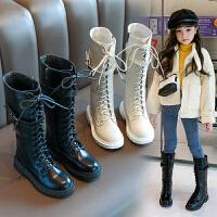 女童高筒靴2长靴马丁靴公主加绒长筒靴儿童冬季靴子