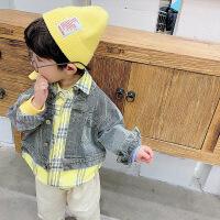 男童外套儿童中小童潮流韩版帅气春秋薄款假两件