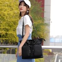 韩国简约尼龙商务公文包男女防水尼龙斜挎包校园学生书包手提包潮