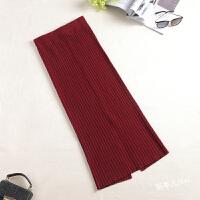 秋冬裙子女新款半身裙包臀针织毛线一步长裙显瘦开叉加厚包裙