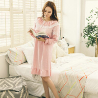 睡衣女秋裙子纯棉睡裙长款宫廷公主风甜美可爱可外穿长袖XC