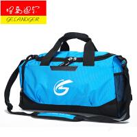 格蓝迪尔 休闲时尚防水手提健身包 男女大容量单肩斜挎男士训练包 运动包 旅行包