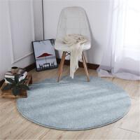 北欧圆形客厅茶几地毯卧室简约现代地垫 素色ins定做定制纯色圆毯