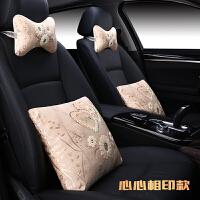 汽车抱枕一对车内个性车用车载车上枕头枕四件套靠枕靠垫腰靠卡通