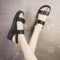 户外仙女凉鞋韩版平跟沙滩鞋百搭休闲厚底罗马凉鞋女
