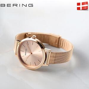 bering白令手表女时尚潮流正品防水女石英表简约气质女士手表